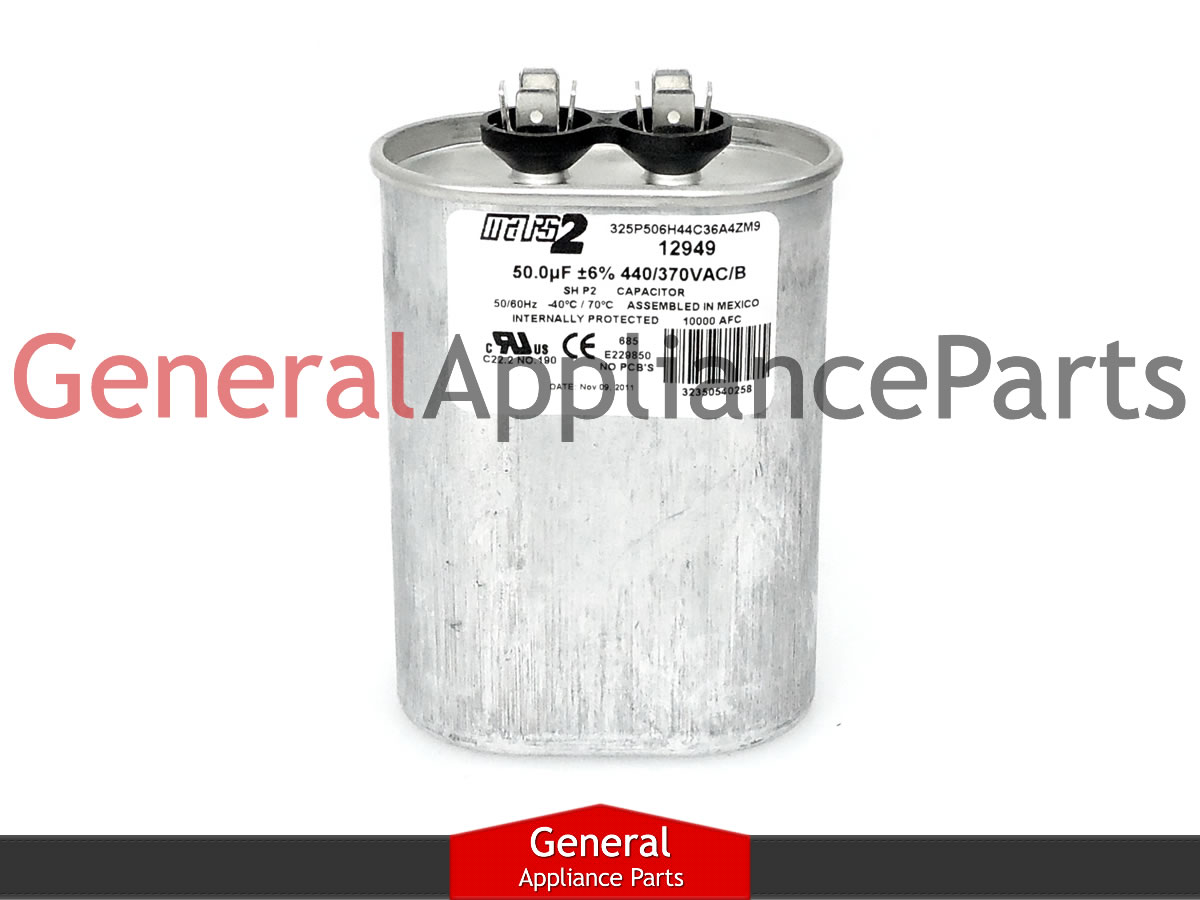 kenmore range oval run capacitor 50uf 440v 2438 pocf50 183922 dnk45500h 07041611 ebay