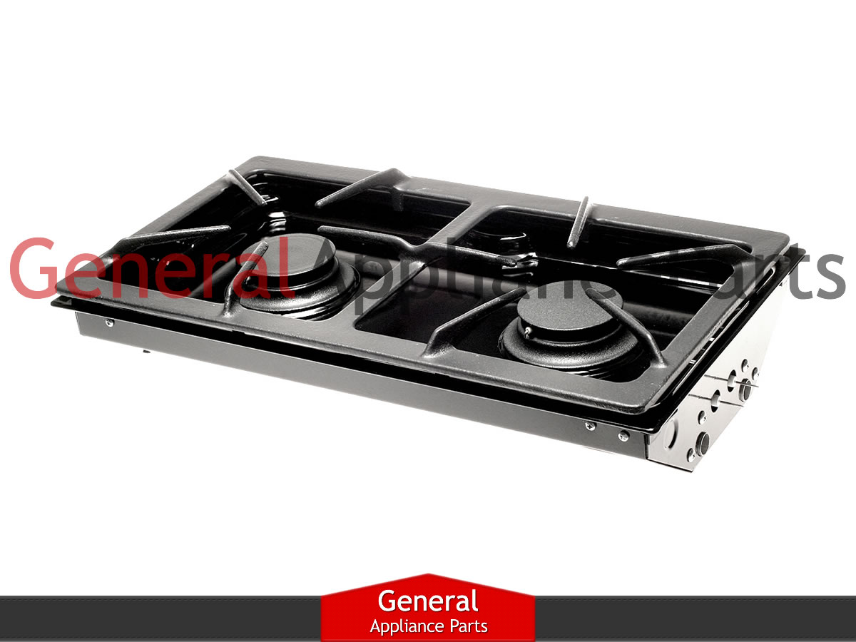 Jenn-Air Designer Line Gas Cooktop Black Two Burner Cartridge ...